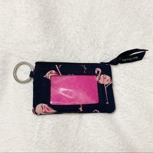 Vera Bradley Fiesta Zip ID Case Wallet Key Card